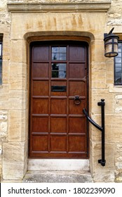 Old door closeup - Beautiful scenic village of Burford in Cotswold, England