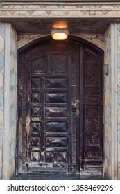 Old door in Dakhla. Dakhla, Western Sahara, Morocco.