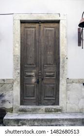 Old door and detail from Alacati, Cesme, izmir, Turkey.