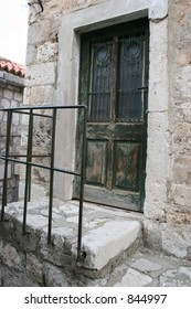 Old door in Dubrovnik, Croatia.
