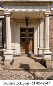 Old door in Durham - United Kingdom - Vintage english architecture