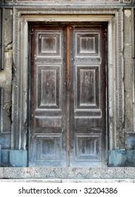 Old door. Element of design.