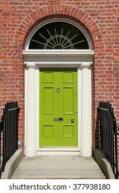 Old door in England - Georgian architecture of Liverpool.