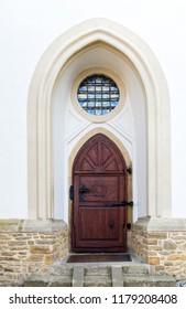 Old door. Location: Monastery of the Poor Clares in Stary Sącz, Poland. Lesser Poland Voivodeship, Nowy Sącz County, Gmina Stary Sącz.