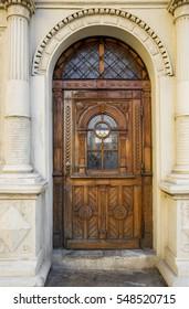 Old door in Lviv, Ukraine
