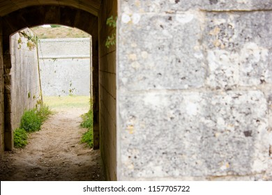 Old door and Masonry of the Fortifications of Vauban, France