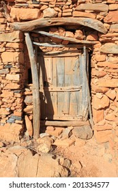Old door of a moroccan barn