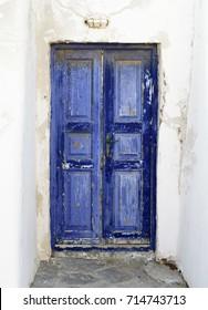 Old door in Mykonos Greece