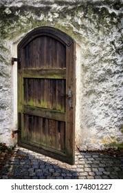 old door at a park