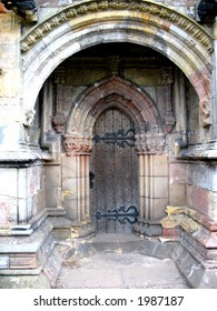 Old Door Rosslyn Chapel