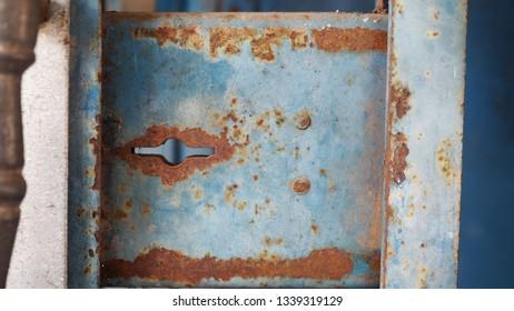 Old door rusted iron keys