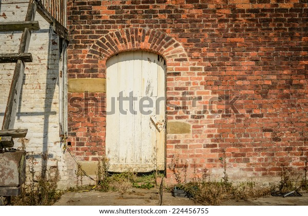 Old Door Set Inside Victorian Garden Stock Photo Edit Now 224456755