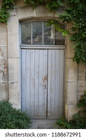 Old door with window