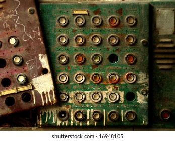 Old doorbells out of use.