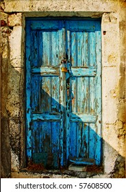 old doors of Greek islands