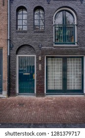 Old doors and windows in Amsterdam