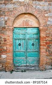 Old dor in Tuscany, Italy