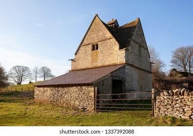 Old dovecote at Naunton, Cotswolds, Gloucestershire, England