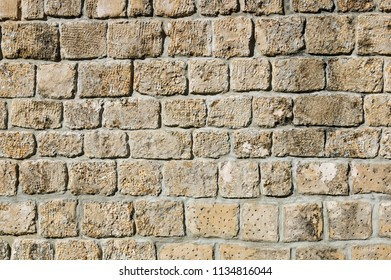 old dressed stone wall background texture