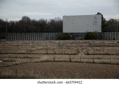 Old drive-in movie theater