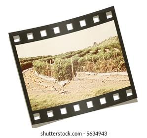 Old dust-bowl farm and film strip