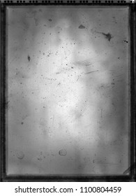 Old, dusty overexposed polaroid image