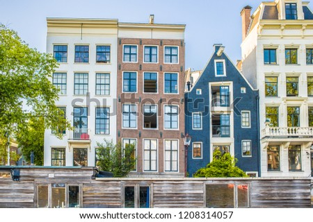 Old Dutch Houses Amsterdam Netherlands Stock Photo Edit Now