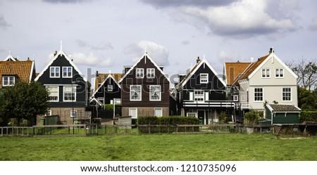 Old Dutch Houses Detail Tourism Europe Stock Photo Edit Now
