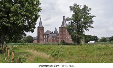 Old dutch medieval castle Hoensbroek (the Netherlands)