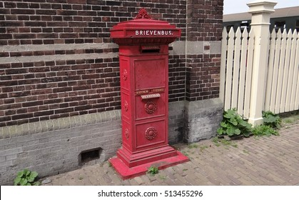 An old dutch red letter box