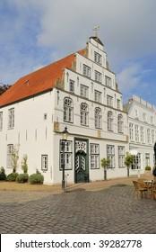 Old Dutch Renaissance House at Friedrichstadt Scheswig Germany.