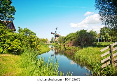 Old dutch village in country side