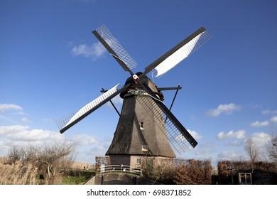 The old Dutch windmills