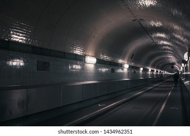 Old Elbe Tunnel or St. Pauli Elbe Tunnel which opened in 1911, it is a pedestrian and vehicle tunnel in Hamburg, Germany