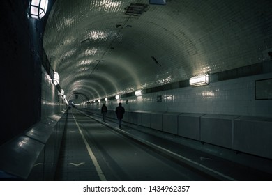 Old Elbe Tunnel or St. Pauli Elbe Tunnel opened in 1911, it is a pedestrian and vehicle tunnel in Hamburg, Germany