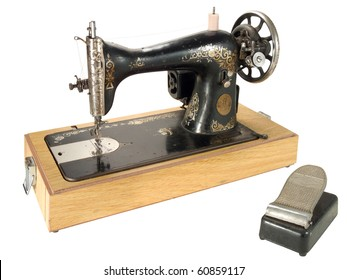 An old electric sewing machine
