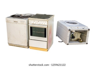 Old electrical appliances isolated