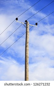 Old electricity pole