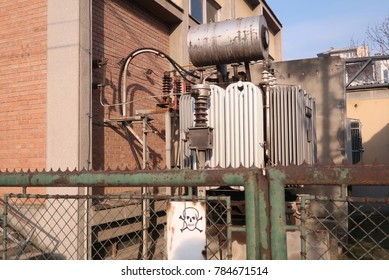 Old electricity transformer