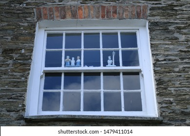 An old Elizabethan window from a cottage. An old window from a fisherman's cottage in Cornwall.