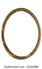 an  old  ellipse metal frame on white