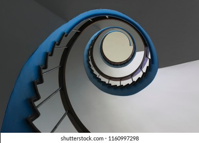 An old emergency aid staircase, picture taken before the demolition