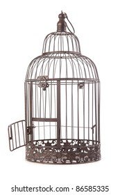 Old empty birdcage