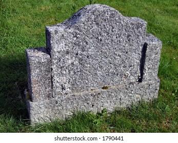 Old empty gravestone
