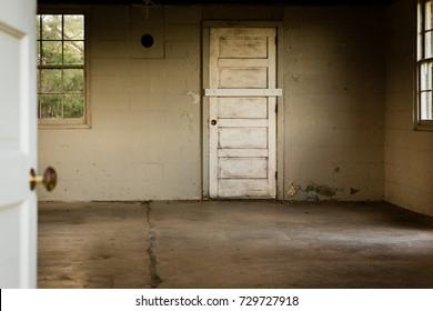 old empty historic military barracks