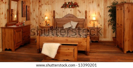 Old Empty Kitchen Set Natural Pine Stock Photo Edit Now 13390201