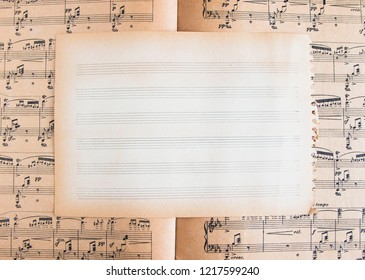Old empty music paper on music sheet