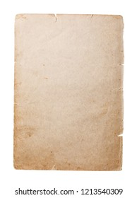 Old empty page of the book which has turned yellow over time, isolated