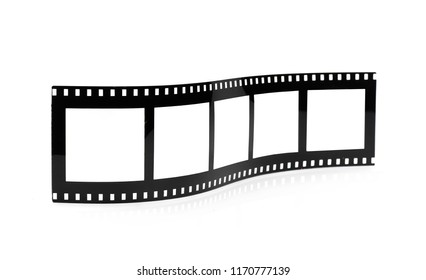 Old empty photo frame film movie roll mock up