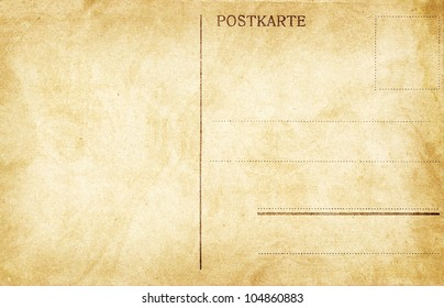 Old empty post card